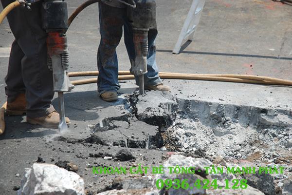 cắt đường bê tông tại tỉnh Quảng Trị